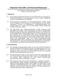 Allgemeine Geschäfts- und Nutzungsbedingungen - Kommunalnet