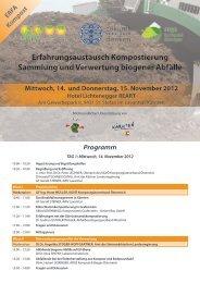 Programm Erfahrungsaustausch Kompostierung - Kommunalnet
