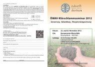 Programm Klärschlammseminar 2012 - Kommunalnet