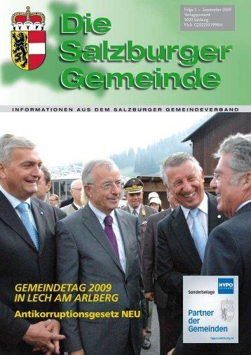 GEMEINDETAG 2009 IN LECH AM ARLBERG - Kommunalnet
