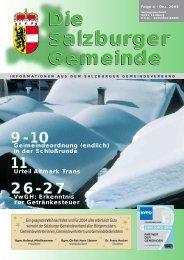 Die Salzburger Gemeinde Die Salzburger ... - Kommunalnet