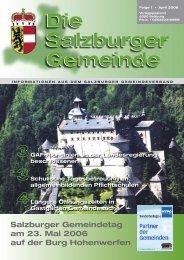 Die Salzburger Gemeinde Die Salzburger ... - Kommunalnet.at