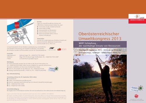 Detailprogramm Oberösterreichischer Umweltkongress 2013 - Land ...