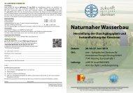 naturnaher Wasserbau - Kommunalnet