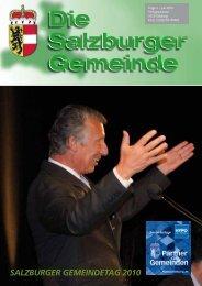 SALZBURGER GEMEINDETAG 2010 - Kommunalnet