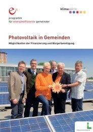 Photovoltaik in Gemeinden PDF 6,08 MB - Lebensministerium