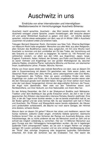Auschwitz in uns - Komm und sieh