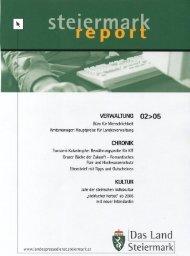 Steiermark-Report Februar 2005 - Kommunikation Land Steiermark