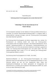 Erzherzog-Johann-Forschungspreis - Kommunikation Land ...