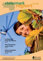 Steiermark Report Oktober 2010 - doppelseitige Ansicht (für größere ...