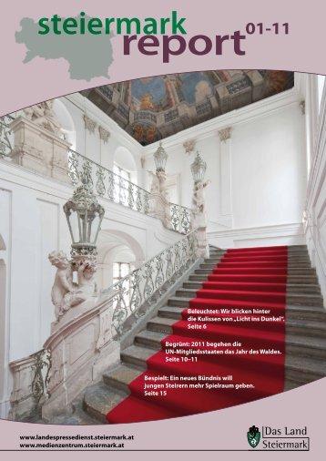 Steiermark Report Jänner 2011 - doppelseitige Ansicht (für größere ...