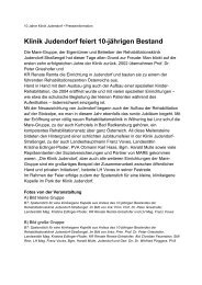 Klinik Judendorf feiert 10-jährigen Bestand - Kommunikation Land ...