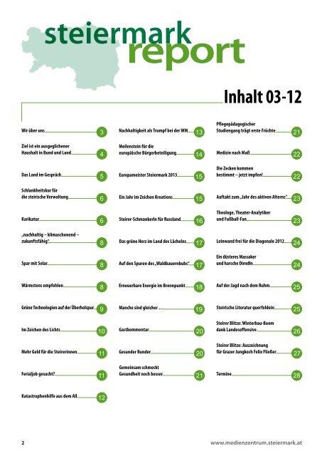 Steiermark Report März 2012 - einseitige Ansicht - Kommunikation ...