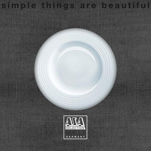 ASA Selection à table Teller Quadratisch Teller Fine Bone China Warmes Weiß 23cm