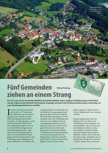 """G5""""-Gemeinden und """"Birkfeld neu"""" erfahren sie hier."""