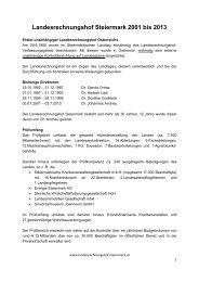 Langfassung der Presseunterlage - Kommunikation Land Steiermark