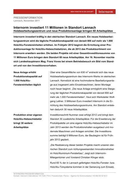 Presseaussendung - Kommunikation Land Steiermark