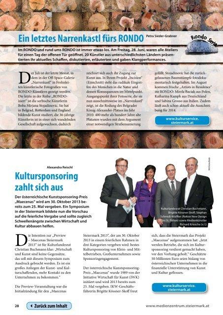 Steiermark Report Juli 2013 - einseitige Ansicht - Kommunikation ...