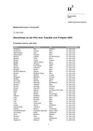 Liste der Abschlüsse (pdf, 33KB) - Abteilung Kommunikation