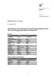 Liste der Abschlüsse (pdf, 153KB) - Abteilung Kommunikation