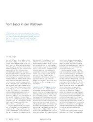 Vom Labor in den Weltraum. (pdf, 1.1 MB) - Abteilung Kommunikation