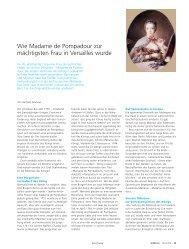 Wie Madame de Pompadour zur mächtigsten Frau ... - Universität Bern