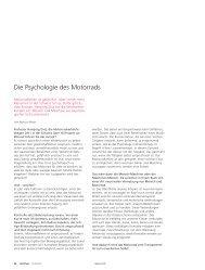 Die Psychologie des Motorrads - Abteilung Kommunikation