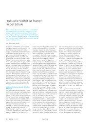 Kulturelle Vielfalt ist Trumpf in der Schule (pdf, 115KB) - Abteilung ...