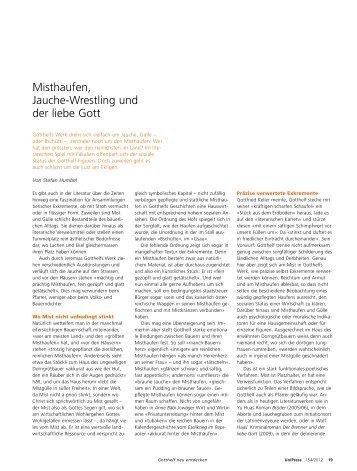 Misthaufen, Jauche-Wrestling und der liebe Gott (pdf, 53KB)