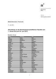 Liste der Abschlüsse (pdf, 123KB) - Abteilung Kommunikation