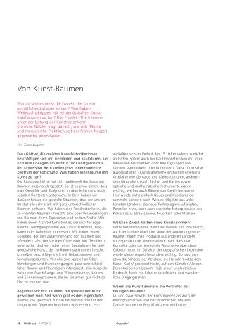 Christine Göttler – Von Kunst-Räumen (pdf, 109KB) - Universität Bern