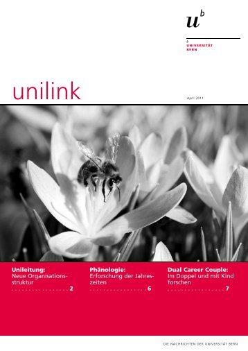 unilink April herunterladen (pdf, 788KB) - Abteilung Kommunikation ...