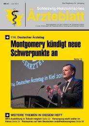 w/m - Schleswig-Holsteinisches Ärzteblatt