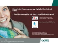 Knowledge Management og digital videndeling i COWI - En ...