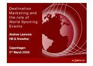 Destination Marketing and the role of World Sporting Events