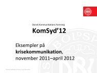 DBU på sociale medier - Dansk Kommunikationsforening