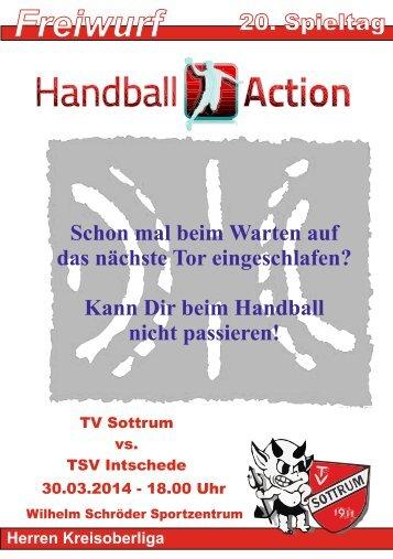 Handball Hallenheft, TV Sottrum - TSV Intschede