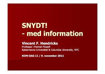 SNYDT! - med information med information - med information med ...