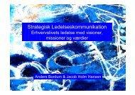 Strategisk Ledelseskommunikation - Dansk Kommunikationsforening