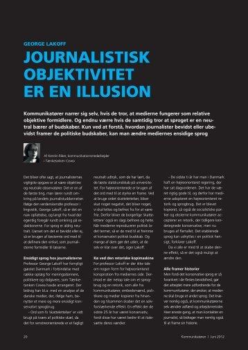 journalistisk objektivitet er en illusion - Dansk Kommunikationsforening