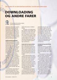 downloading og andre farer - Dansk Kommunikationsforening