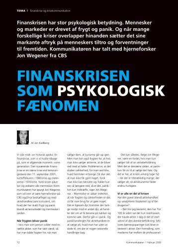FINANSKRISEN SOM PSYKOLOGISK FæNOMEN - Dansk ...
