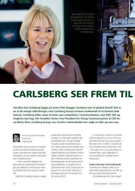 carlsberg ser frem til comcase - Dansk Kommunikationsforening