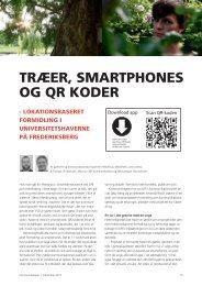 TRæER, SMARTPHONES OG QR KODER - Dansk ...