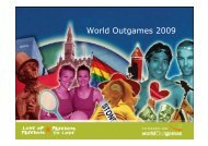 World Outgames 2009 - Dansk Kommunikationsforening