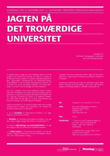 jagten på det troværdige universitet - Dansk Kommunikationsforening