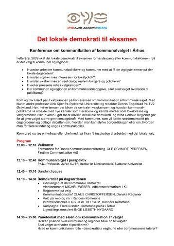 Det lokale demokrati til eksamen - Dansk Kommunikationsforening