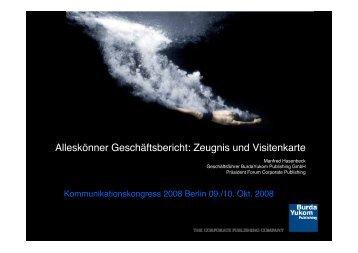 Manfred Hasenbeck - Kommunikationskongress