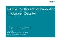 Risiko- und Krisenkommunikation im digitalen Zeitalter