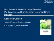 Judith von Gordon - Kommunikationskongress